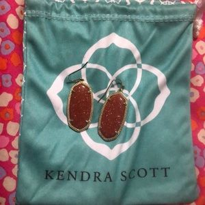 Elle Kendra Scott Earrings in Goldstone